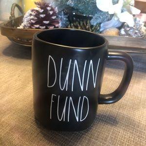 """NWT RAE DUNN """"Dunn Fund"""" black mug"""